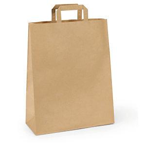 Papírová taška s plochým uchem kraft hnědá