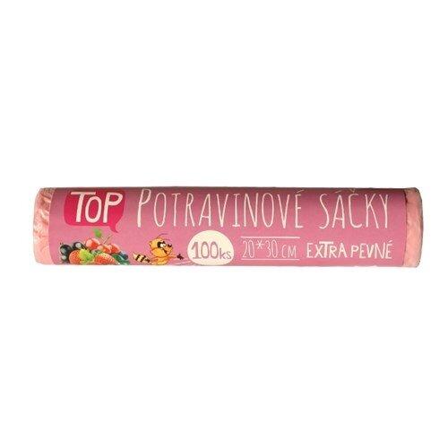 Potravinové sáčky růžové 20 x 30 cm na roli