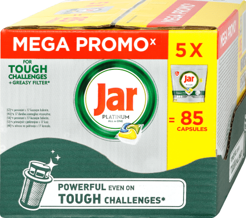 XXL box JAR Platinum tablety do myčky 135 ks