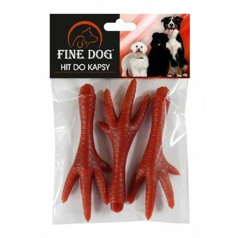 FINE DOG Jerky kuřecí pařátky 3ks