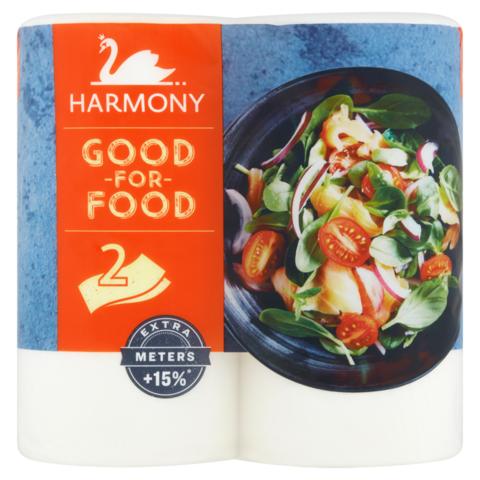Harmony Good for Food papírové kuchyňské utěrky 2-vrstvé 2 role
