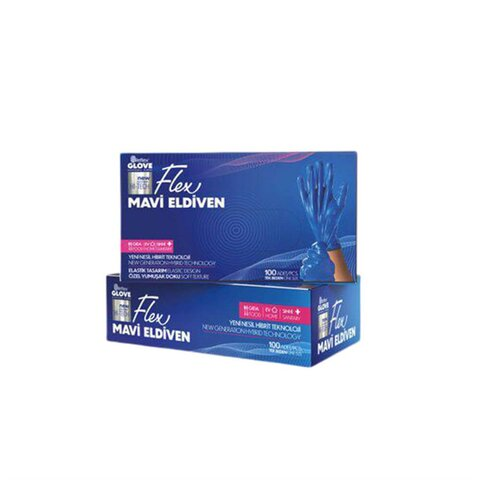 Jednorázové rukavice modré termoplastic elastomer