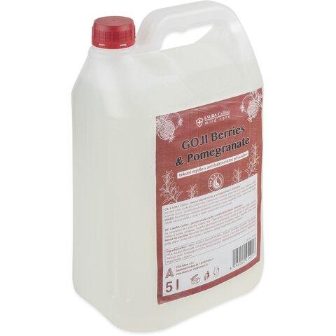 Laura Collini tekuté mýdlo s antibakteriální přísadou GOJI Berries & Pomegranate 5l