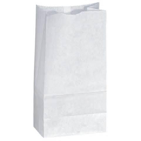 Papírové pytle bíle