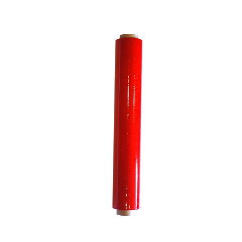 Ruční stretch fólie 500 mm, 23 mikronů, červená - 100m