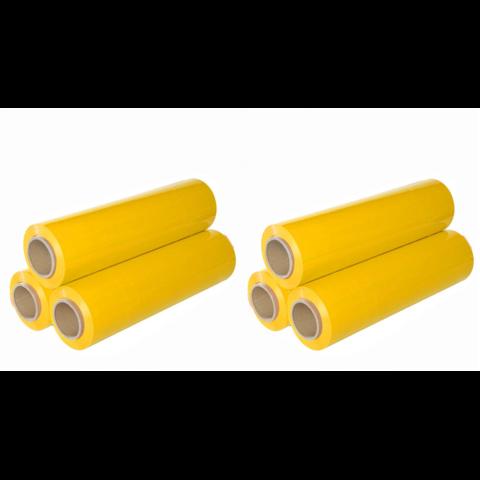 RUČNÍ STRETCH FÓLIE 500 MM, žlutá - 6ks