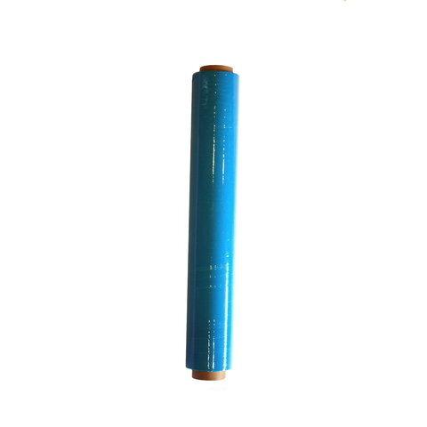 Ruční stretch fólie na balení kufrů modrá