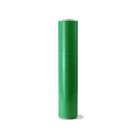 Ruční stretch fólie na balení kufrů zelená