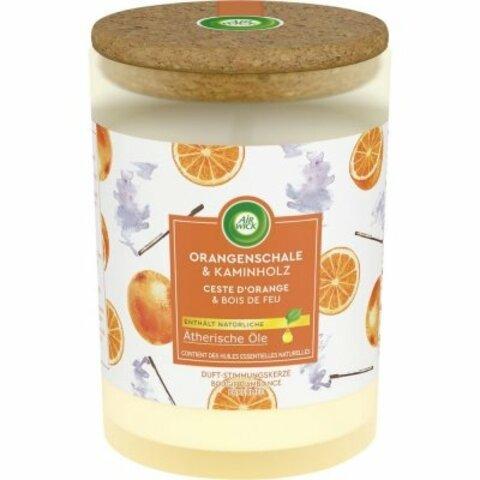 Svíčka Air Wick Orange Peel & Firewood 185 g