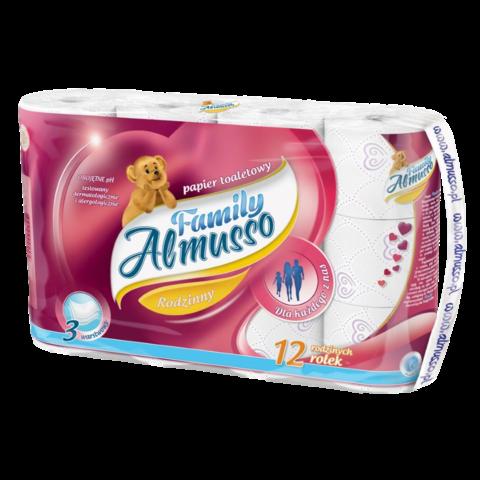 Toaletní papír Almusso Family 3 vrstvý 12 ks