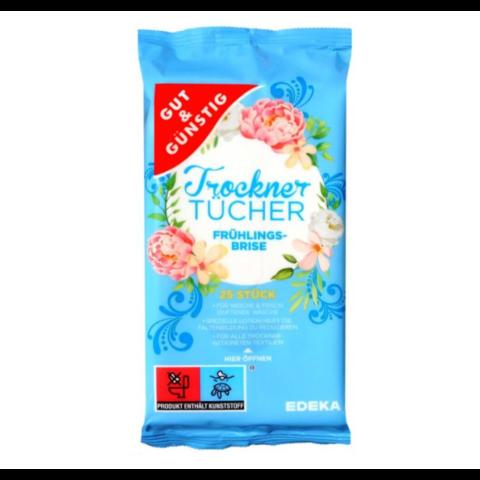 TROCKNER TÜCHER Vlhčené ubrousky do sušičky 25 ks