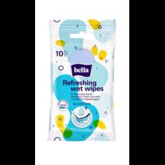 Bella Antibakteriální vlhčené ubrousky osvěžující 10 kusů