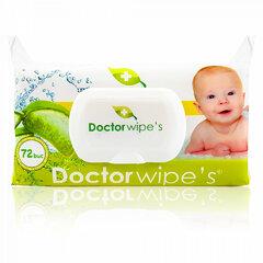 Doctor Wipe´s dětské vlhčené ubrousky s aloe vera a uzavíratelným klipem 72 ks