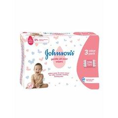 JOHNSON'S Dětské vlhčené ubrousky - Gentle All Over 3x72ks