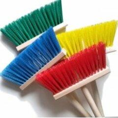 Koště chodníkové s holí barevný mix.