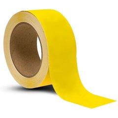 Lepicí páska PVC 38 mm x 33 m žlutá UV stabilní rýhovaná