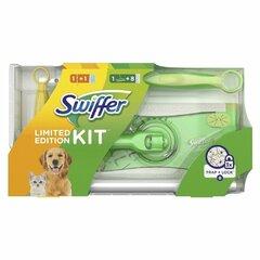 Swiffer sada 2v1 prachovka & mop (rukojeť + 1 náhrada a mop + náhrady 8 ks)