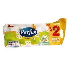 Toaletní papír Perfex 3 vrstvý 10 rolí Heřmánek