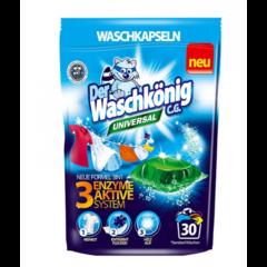 Waschkönig kapsle na praní UNIVERSAL 30 pcs s aktivním systémem 3 enzymů
