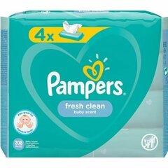 XXL Pampers Fresh Clean dětské vlhčené ubrousky 4 x 52ks