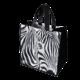 Taška 34x36+22cm černá zebra - tkaná